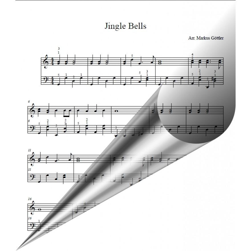 Weihnachtslied, Jingle Bells, Klaviernoten