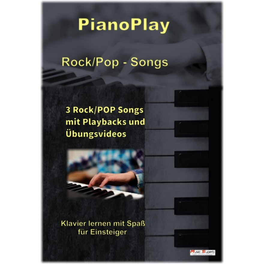 Rock/Pop-Powerpack Klaviernoten incl. Übungs-Videos