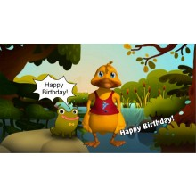 """Happy Birthday to You (Duck)"" Geburtstagslied u. Video mit eigenen Namen"