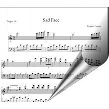 Sad Face - Klavierballade romantisch, modern(Noten+Playback Download)