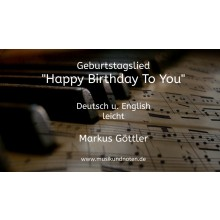Klaviernoten - Happy Birthday to You - (Noten + Playback)